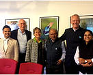 Left to right: Rahul, Professor Avi Soifer, Professor Denise E. Antolini, Mr. Ravi Singh, Justice Michael D. Wilson, Ms. Moulika Arabhi