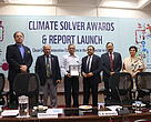 Dr. R Ramarathnam , Chairman,  Basil Energetics receiving the award  L to R : Mr Krishan Dhawan, CEO, Shakti Sustainable Energy Foundation , Mr. Ravi Singh, Secretary General & CEO, WWF-India, Dr. R Ramarathnam , Chairman,  Basil Energetics, Sh. C.K. Mishra, Secretary, Ministry of Environment, Forest, and Climate Change, Govt. of India Mr V. Subramanian, Former Secretary, MNRE , and Ms. Seema Arora, Deputy Director General, CII-ITC Centre of Excellence for Sustainable Development