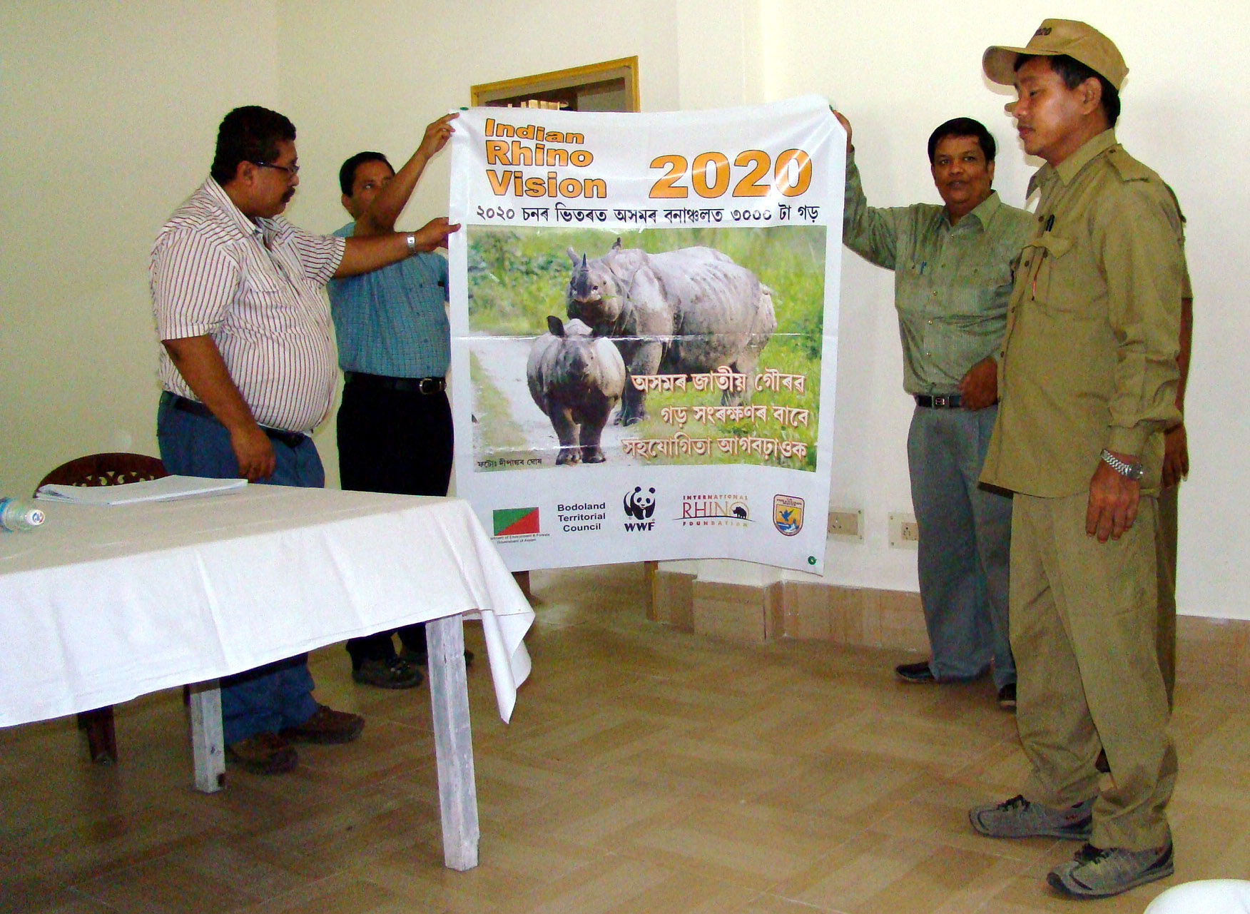 assam forest guards better equipped to protect rhinos wwf  enlarge