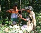 WWF-India staff training Pakke TR staff on the use of camera traps